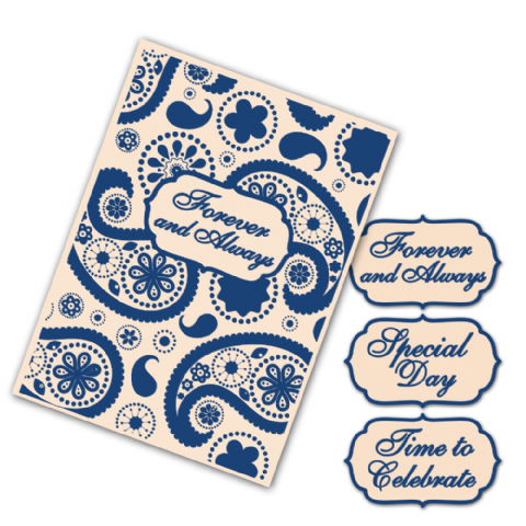 Tattered Lace Embossing Folder Interchangeable Paisley - EF063